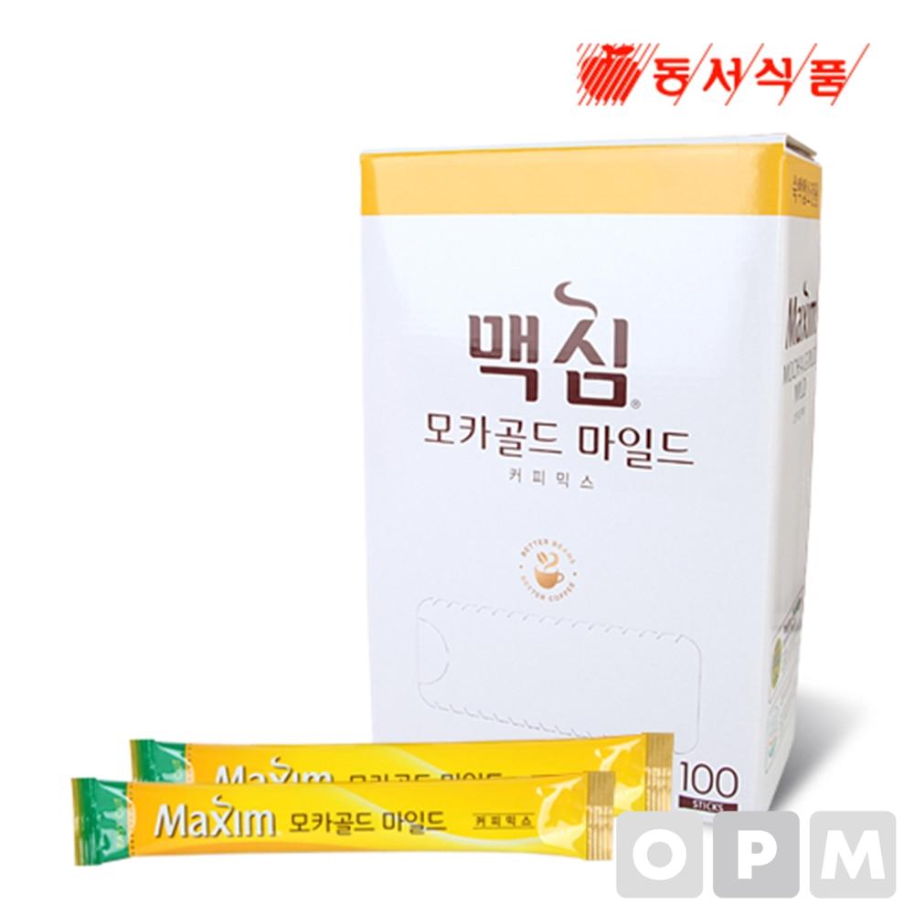 커피믹스 ( 동서식품/맥심 모카골드 마일드 커피믹스 )100스틱 5각 업소용 / 주문단위 500개