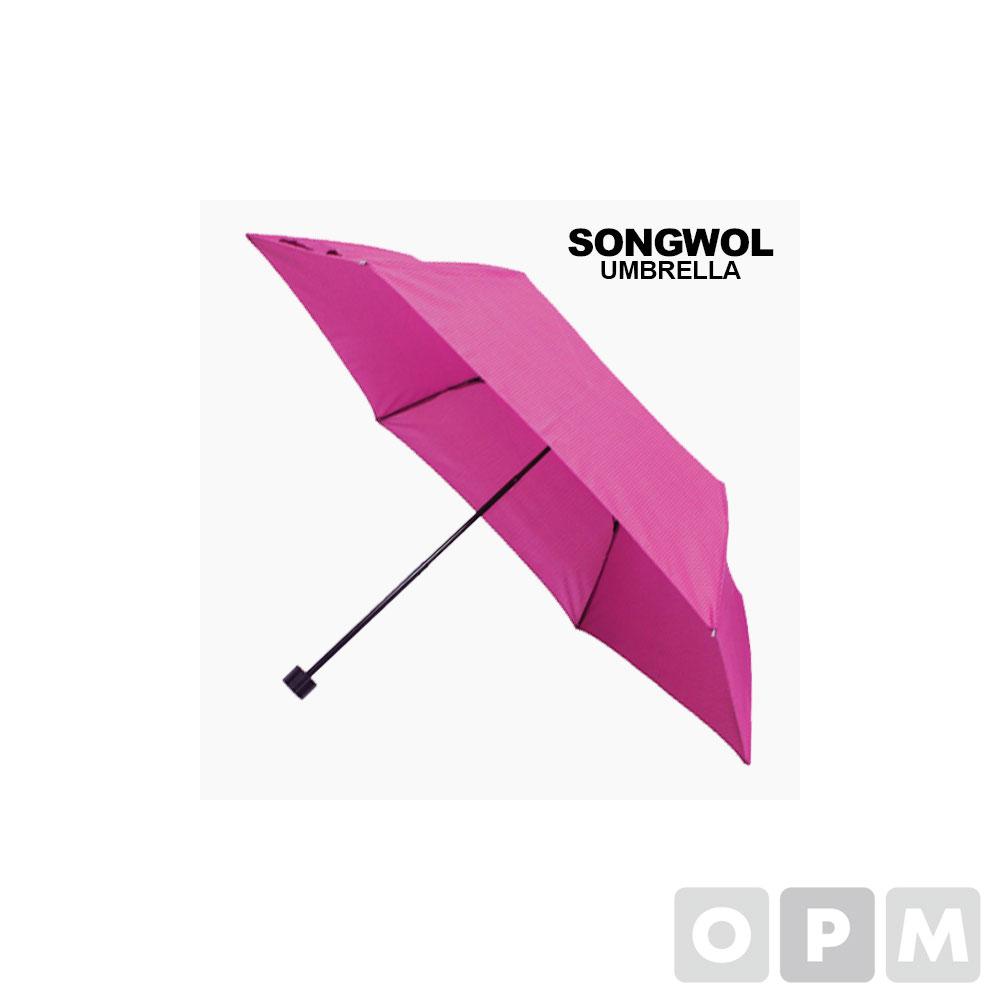 SW 3단 미니 하운드체크 우산 자주