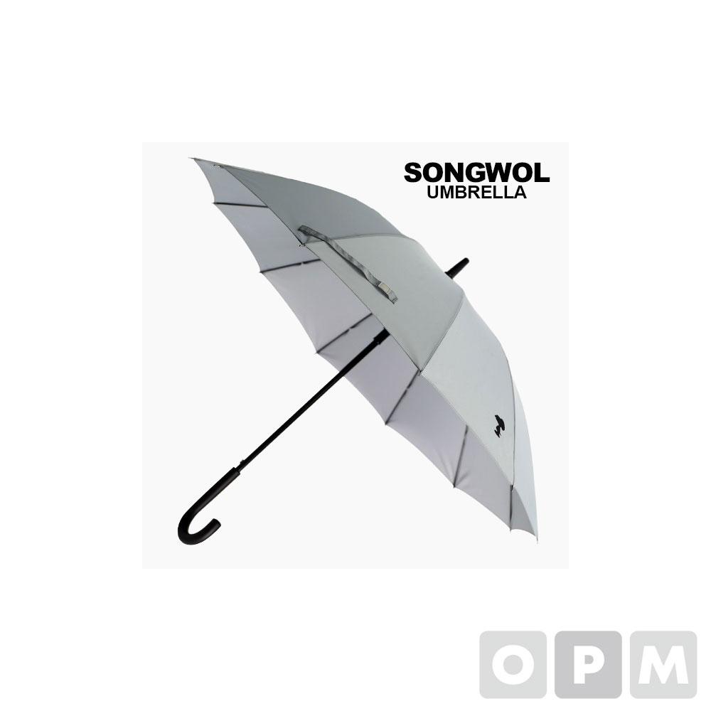 스누피 장 블랙포인트 곡자 60 우산 회색