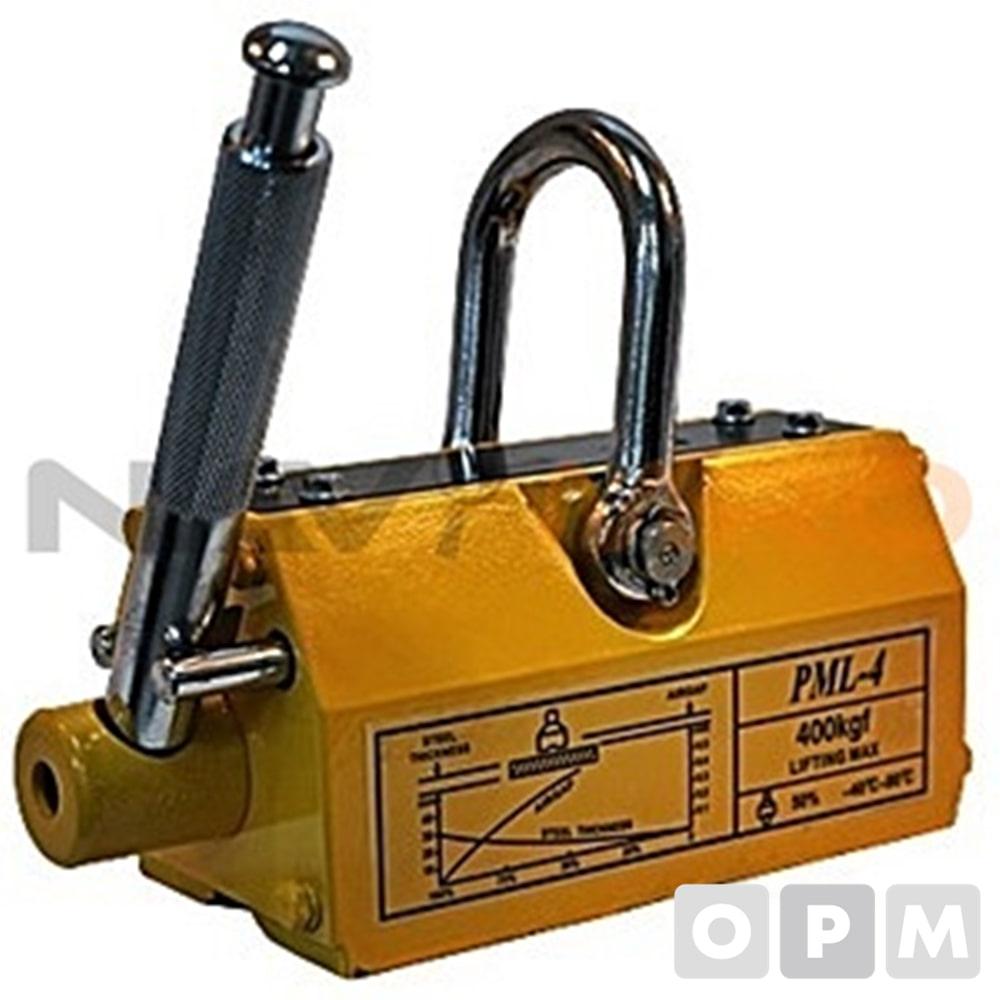 리프팅 마그네트 (PML Series) PML-1000/1EA 정격흡착능력(kg):1000/규격(BxHxLxRmm):133 X 140 X 265 X 250/중량(kg):34/