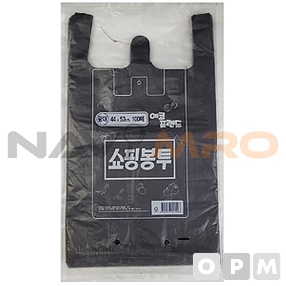 쇼핑봉투(비닐봉투) 1PK(100매) 특대/380x460mm/검정