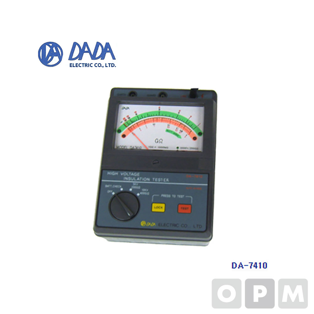 다다전기 고압절연저항계 DA-7410 아날로그 절연저항계