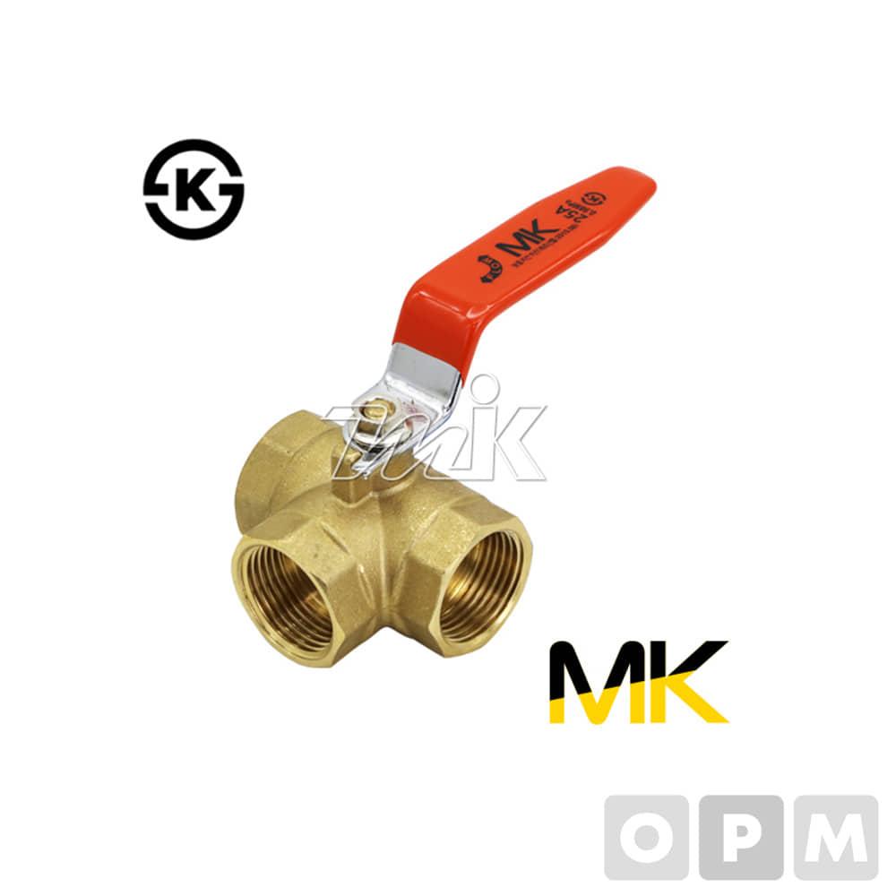 황동볼밸브삼방-KS(L형).8A