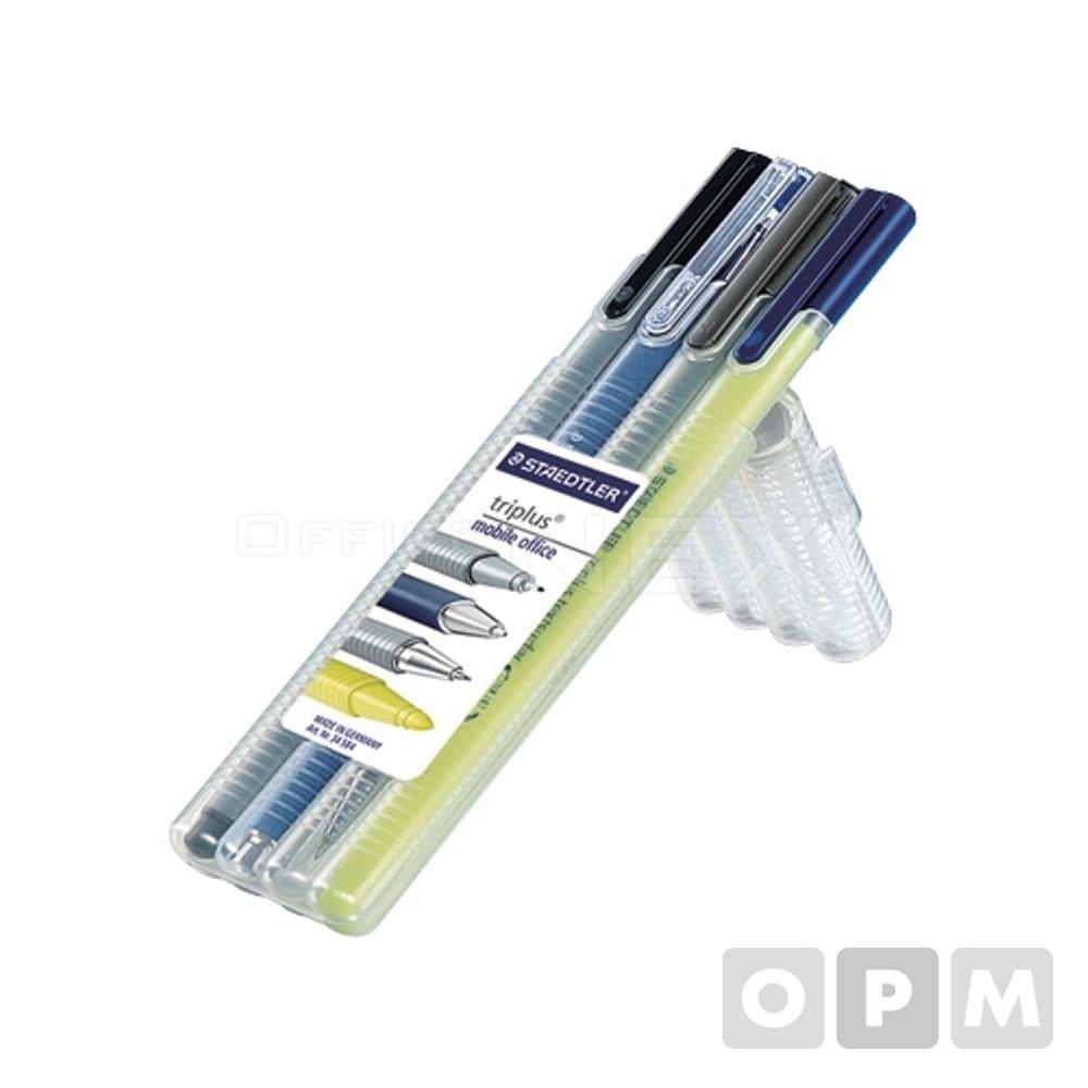 모바일 오피스세트 34SB4볼펜 샤프 화인라이너 형광펜