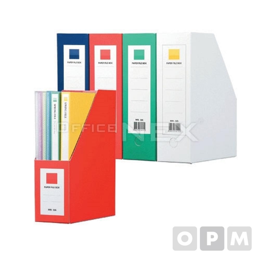 종이화일박스A4F190-7백색 A4 320x250x100mm 백색