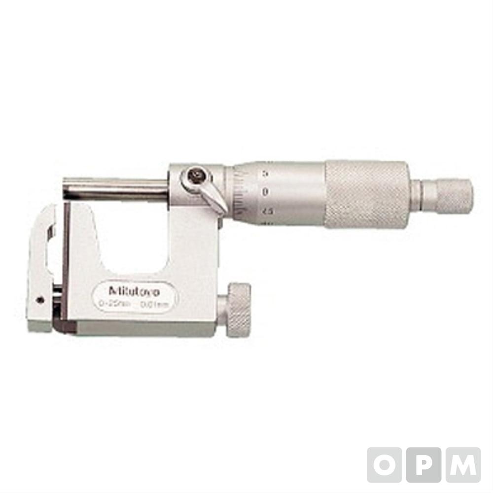 마이크로미터유니 0-25MM/0.01 M117-101 1EA