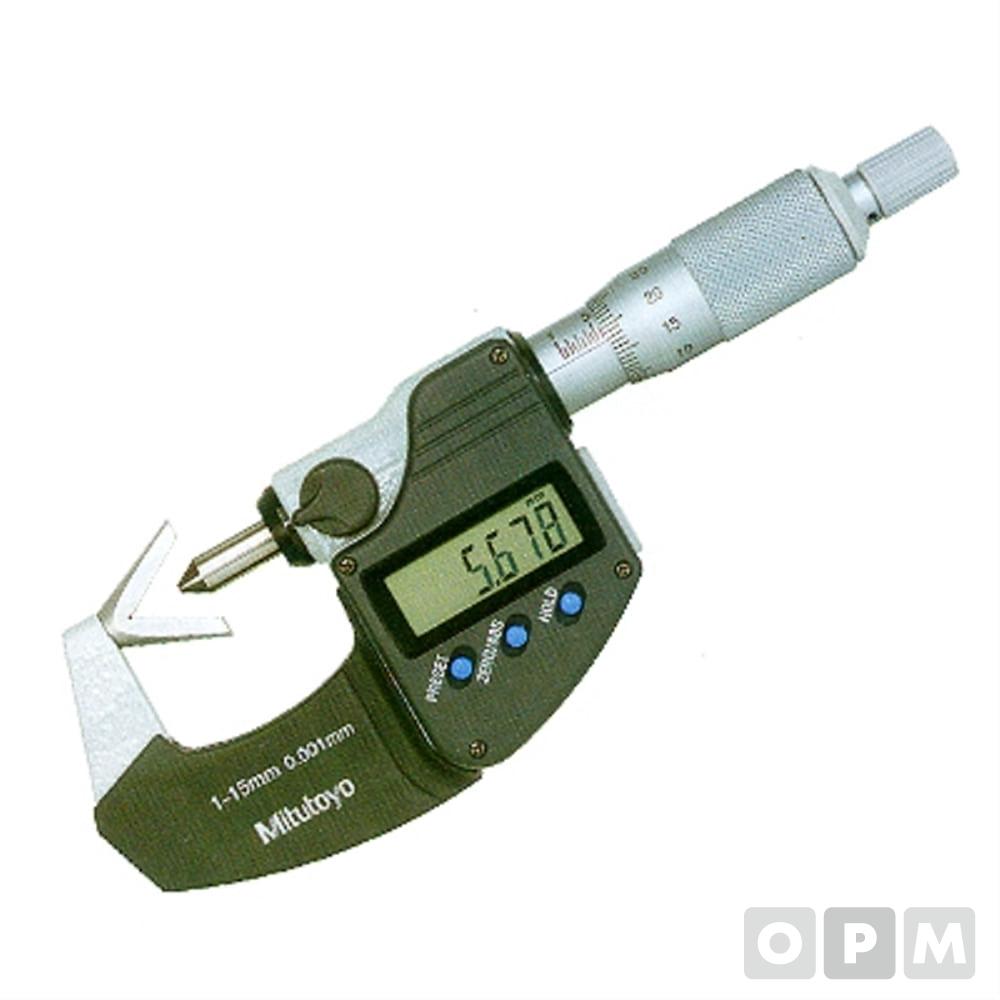 디지털마이크로미터V-앤빌 1-15MMx0.001 1EA