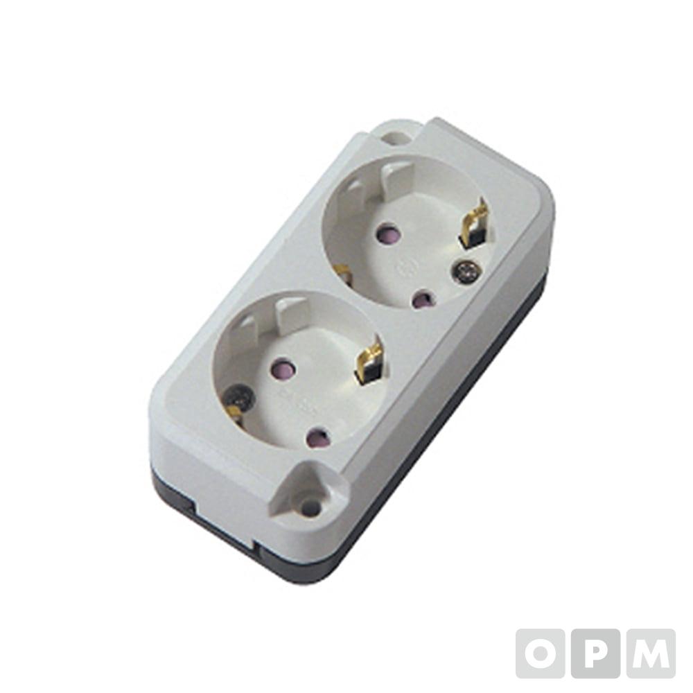 노출콘센트접지극2구 ISC-14005 10EA